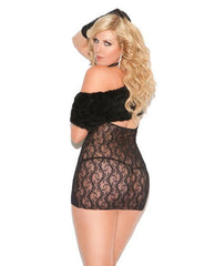 Cupless Lace Dress club wear size one sizecolor blackNakees