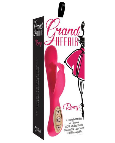 Curve Novelties Grand Affair Romp Vibrator-rabbit vibrator-Curve Novelties-rose-Nakees