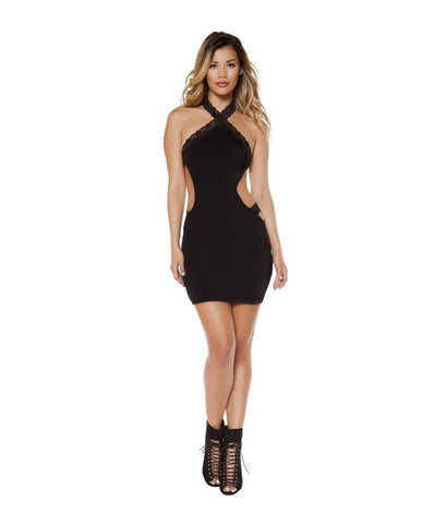 Cutaway Side Club Mini Dress-club wear-Roma Costume-Nakees