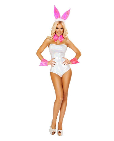 Cute Bunny Costume Costumes Size S/M Color White/Silver Nakees