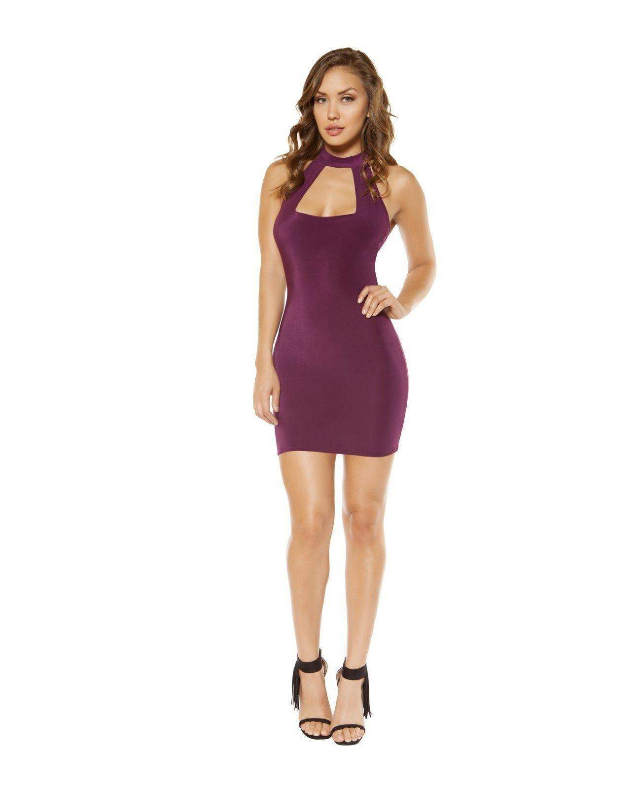 Cutout Top Mini Dress club wear Size small color plum Nakees