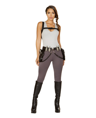 Cyber Adventure Raider-costumes-Roma Costume-Small-Grey-Nakees