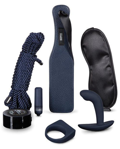 Dark Desire Advanced Couples Bondage Kit sex toys color blue  Nakees