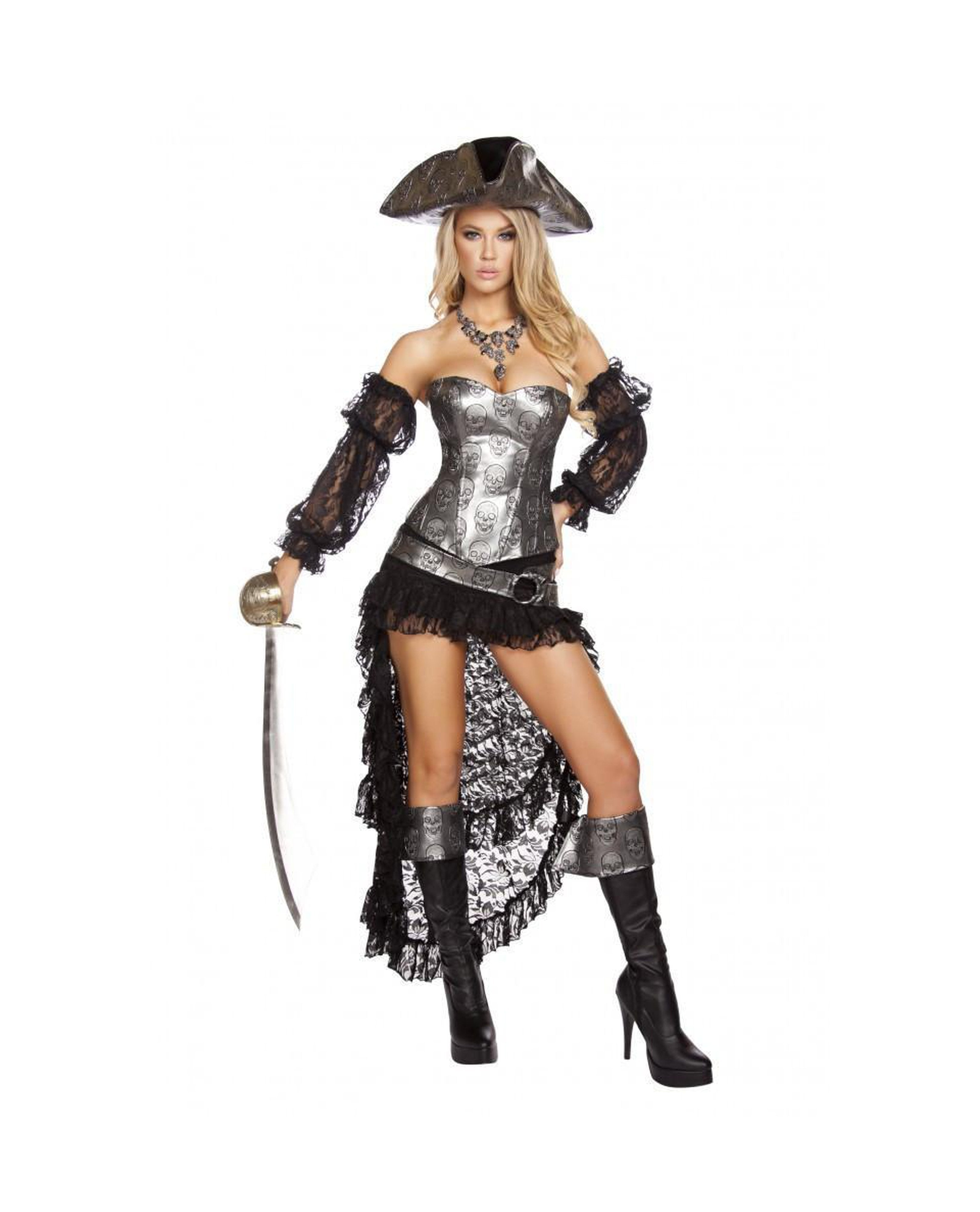 Deadly Pirate Captain costumes Color As ShownSize SmallNakees