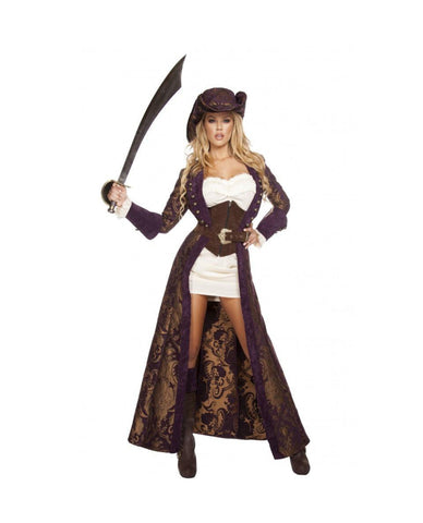Decadent Pirate Diva-costumes-Roma Costume-Brown-Small-Nakees