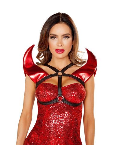 Devil Horn Holster-costume accessories-Roma Costume-One Size-Black/Red-Nakees