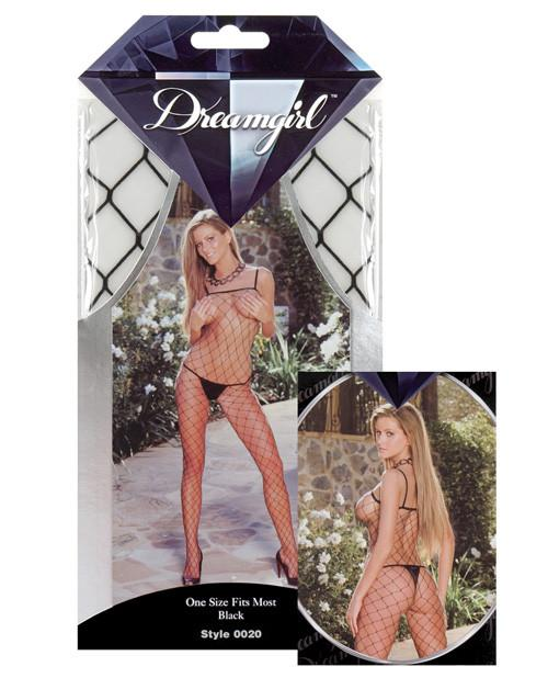 Diamond Fence Net Spaghetti Strap Bodystocking-lingerie-Dreamgirl-one size-black-Nakees