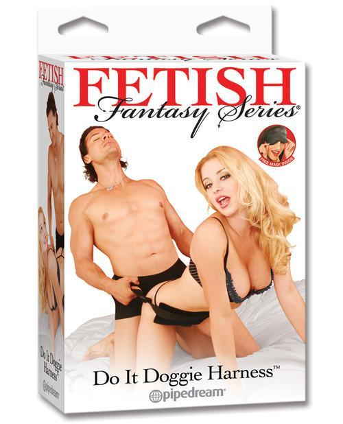 Do It Doggie Harness-couples-Pipedream-black-Nakees