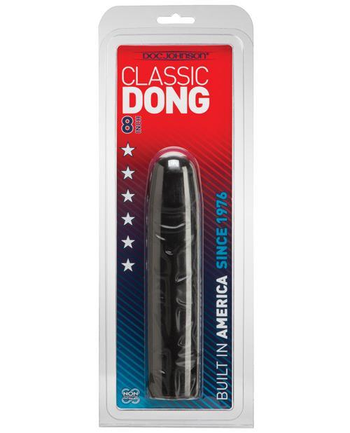 Doc Johnson 8 Inch Classic Dong-sex toys-Doc Johnson-black-Nakees