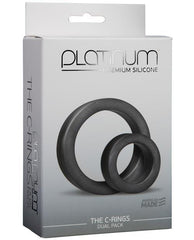 Doc Johnson Platinum Silicone C Rings Set-sex toys-Doc Johnson-charcoal-Nakees