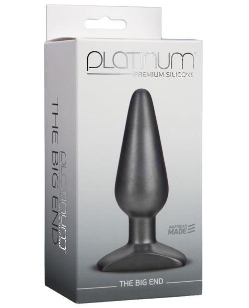 Doc Johnson Platinum Silicone the Big End Anal Plug-sex toys-Doc Johnson-charcoal-Nakees