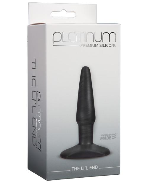 Doc Johnson Platinum Silicone the Lil' End Anal Plug sex toys color charcoalNakees