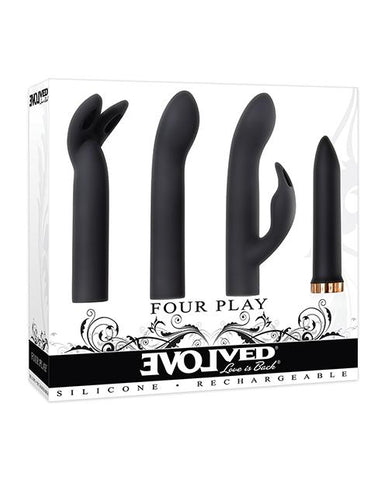 Evolved Four Play Vibrator Kit-sex toys-Evolved-black/rose gold-Nakees