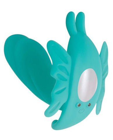 Evolved The Butterfly Effect Rechargeable Dual Stim Vibrator-rabbit vibrator-Evolved Novelties, Inc.-teal-Nakees