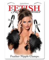Feather Nipple Clamps-sex toys-Pipedream-black-Nakees