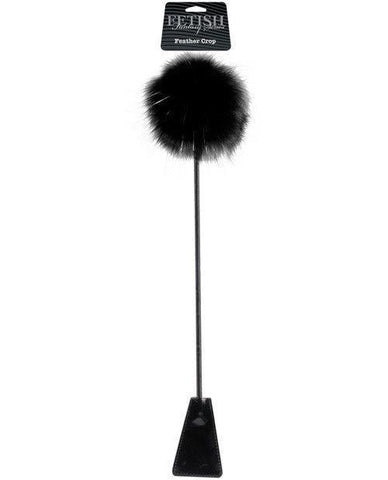 Feather Riding Crop sex toys color black  Nakees