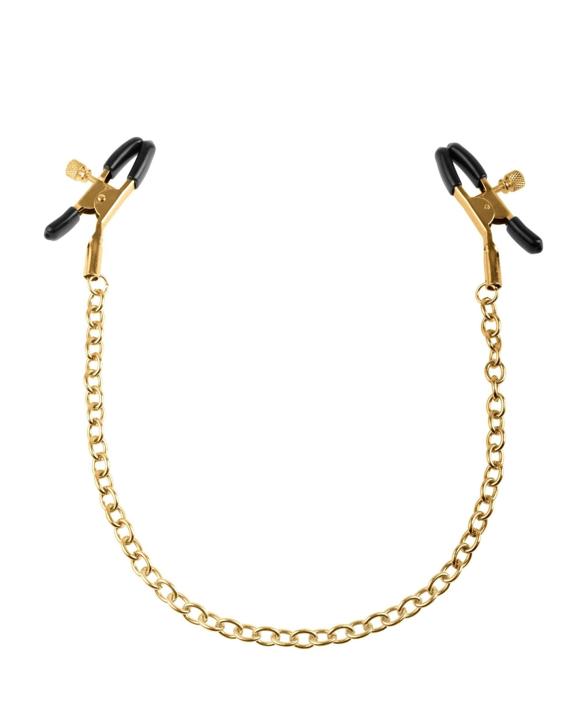 Fetish Fantasy Gold Chain Nipple Clamps sex toys color goldNakees