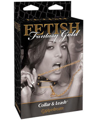 Fetish Fantasy Gold Collar & Leash sex toys color goldNakees