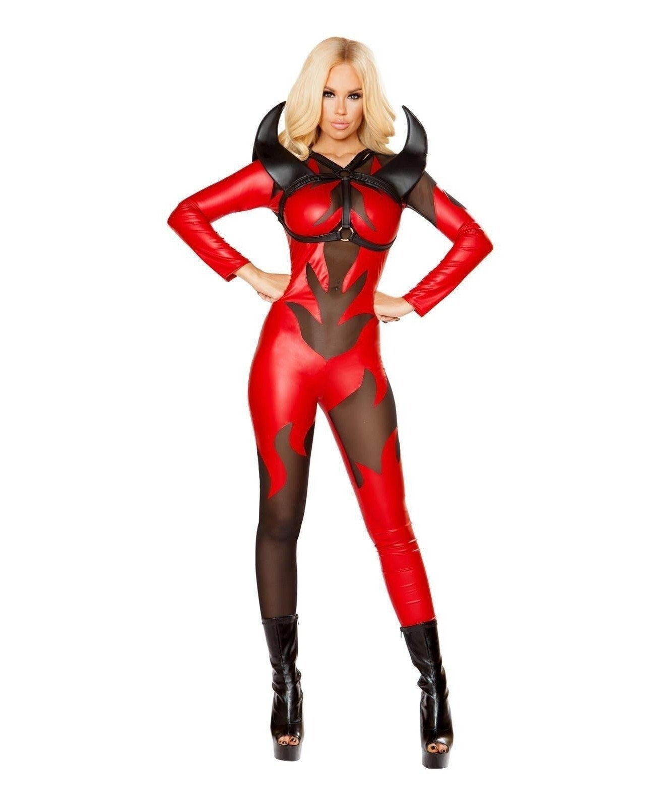 Fire Devil Costume Costumes Size SmallColor Red/BlackNakees