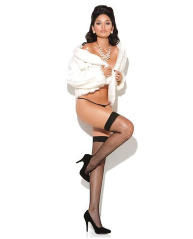 Fishnet Thigh Highs-women-Elegant Moments-one size-pink-Nakees