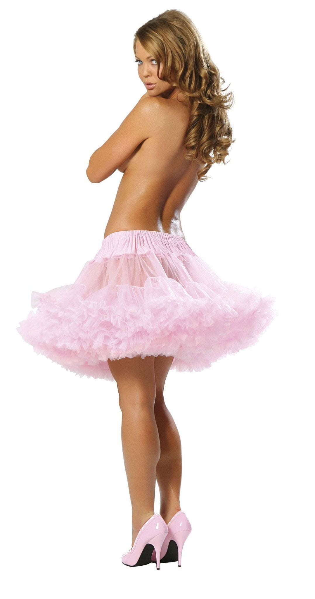 Fluffy Petticoat costumes Color Baby PinkSize One SizeNakees
