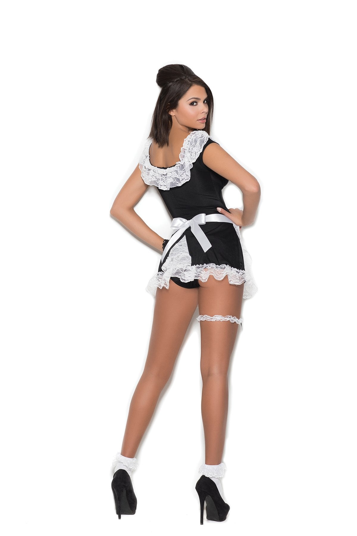 French Maid Costume costumes size one sizecolor blackNakees