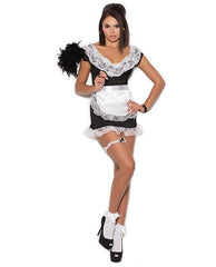 French Maid Costume costumes size one size color black Nakees