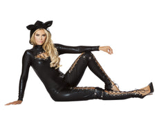 Frisky Cat costumes Size LargeColor BlackEM - Return Department