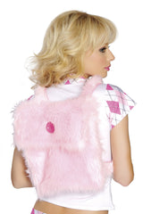 Fur Back Pack costumes Color Baby PinkNakees