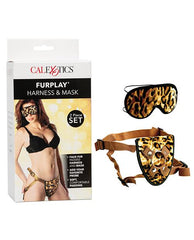 Furplay Harness & Mask-dildo-No Brand-chocolate tiger-Nakees