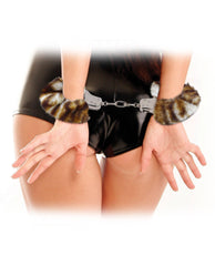Furry Handcuffs sex toys color black  Nakees
