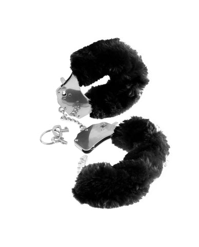 Furry Handcuffs-sex toys-Pipedream-black-Nakees
