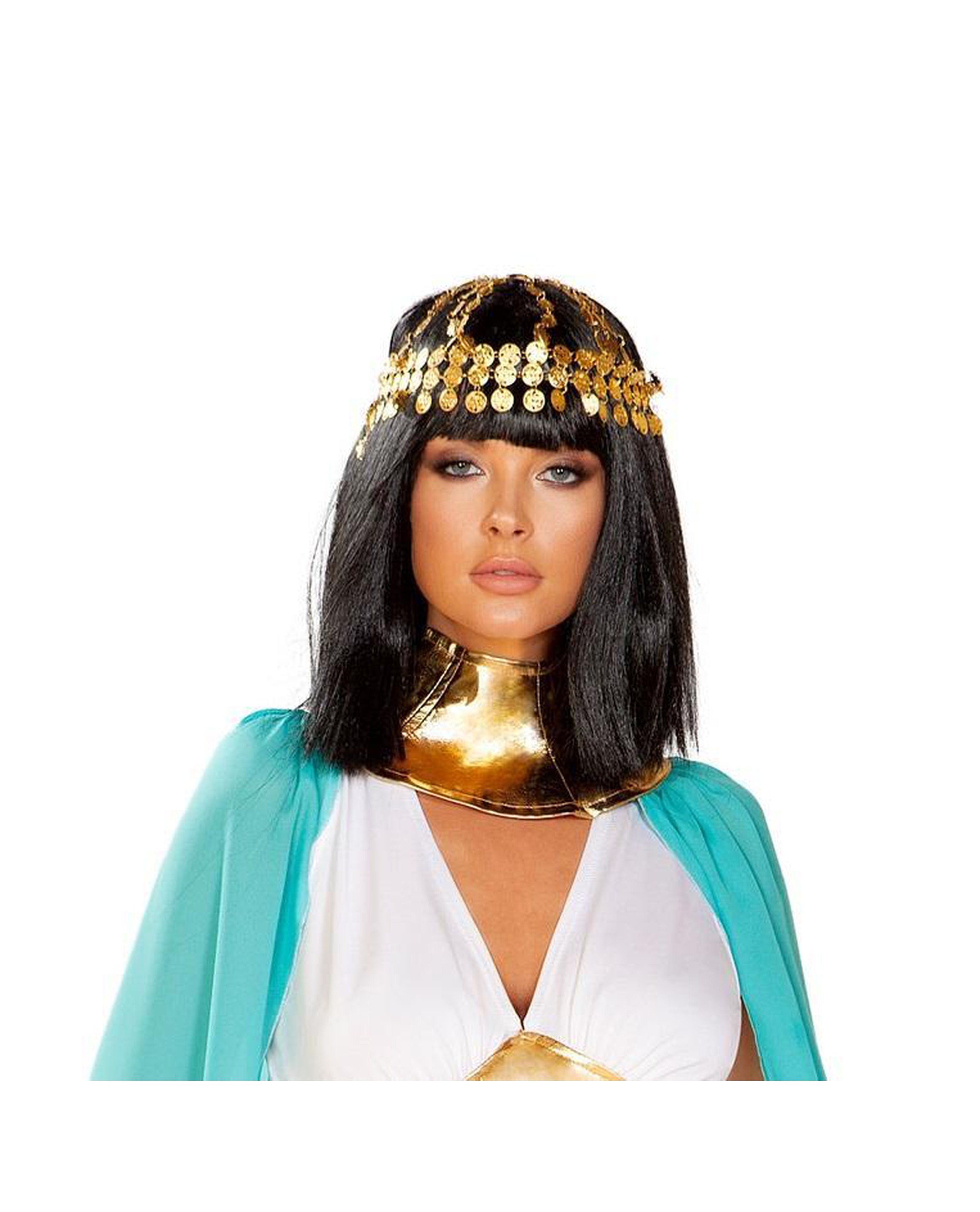 Gold Coin Headpiece costumes Size One SizeColor GoldNakees