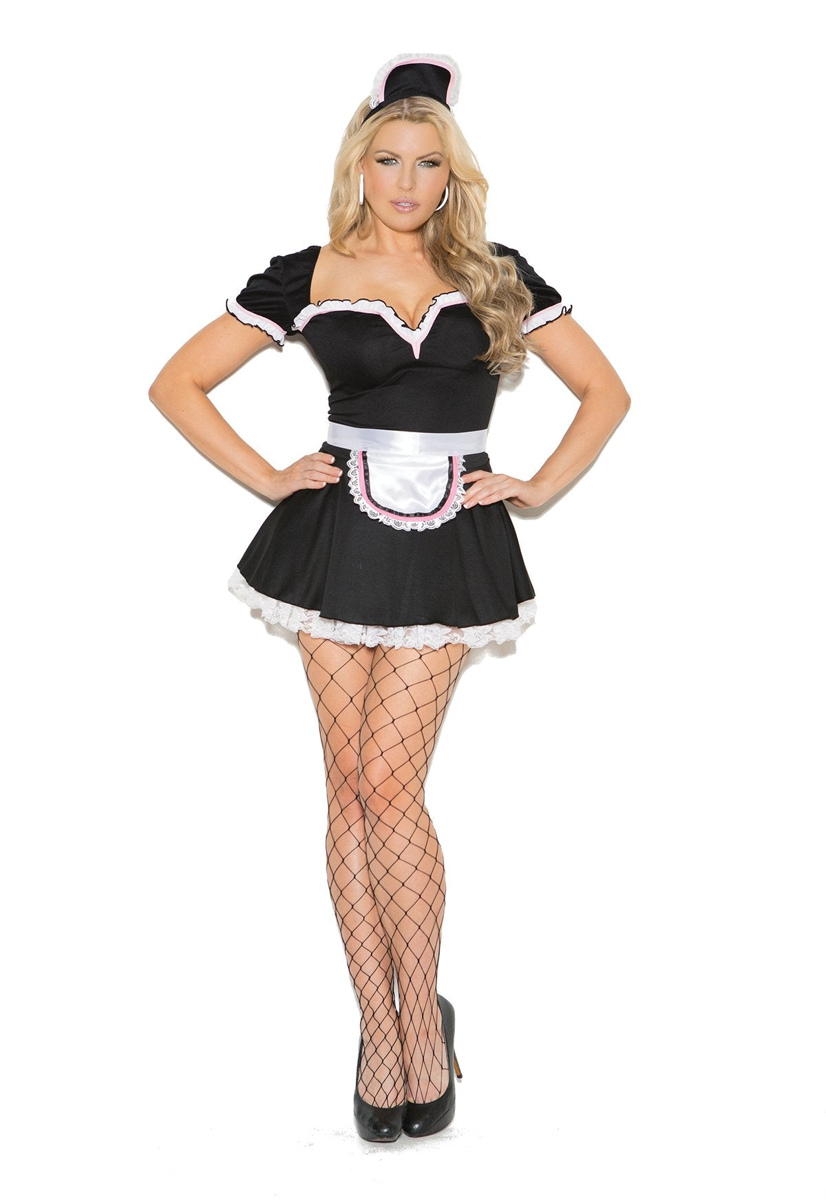 Gorgeous Maid Costume-costumes-Elegant Moments-1X/2X-black-Nakees