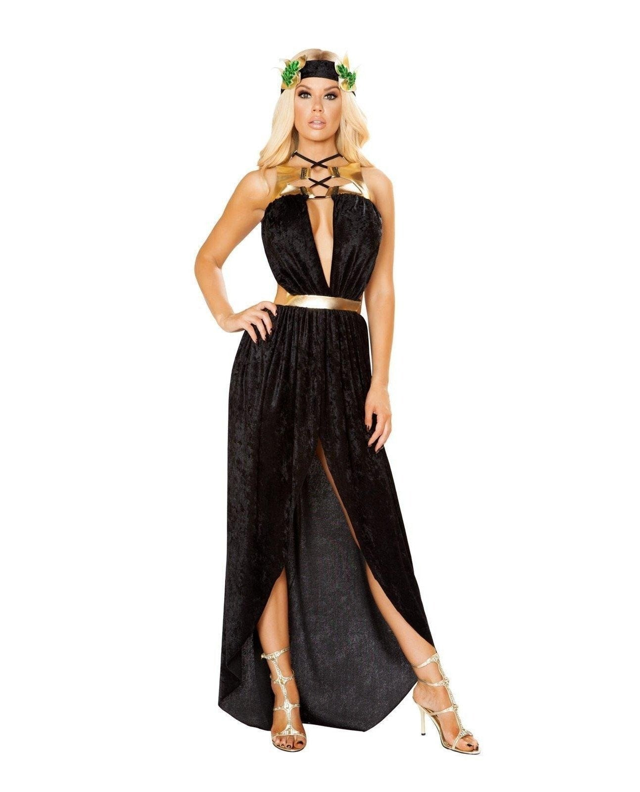 Greek Goddess Costume Costumes Size S/MColor Black/GoldNakees