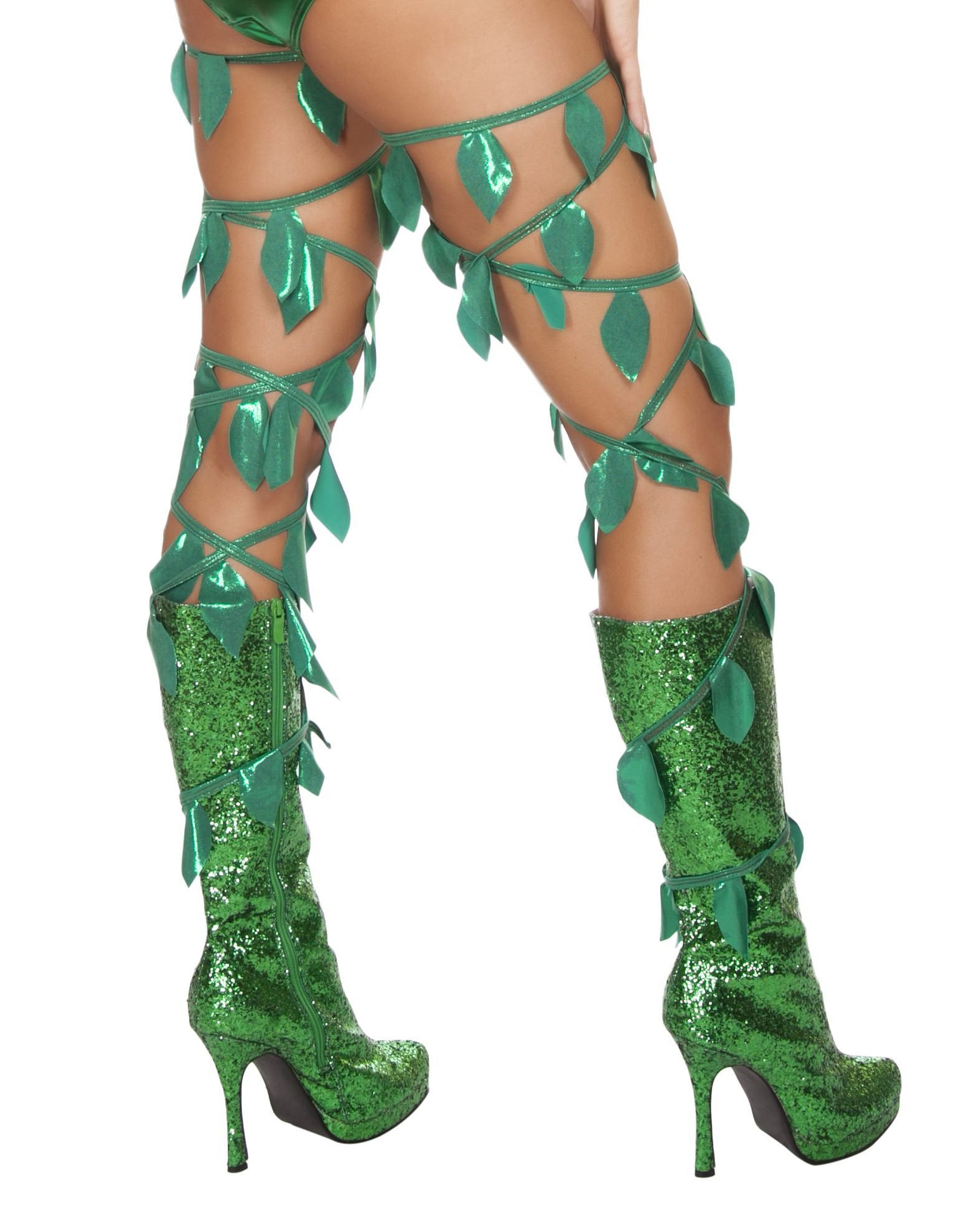 Green Leaf Thigh Wraps costumes Color GreenSize One SizeNakees