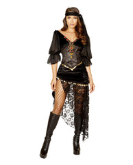 Gypsy Maiden-costumes-Roma Costume-Small-Black-Nakees