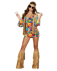 Hippie Hottie costumes Color Multi/BrownSize S/MNakees