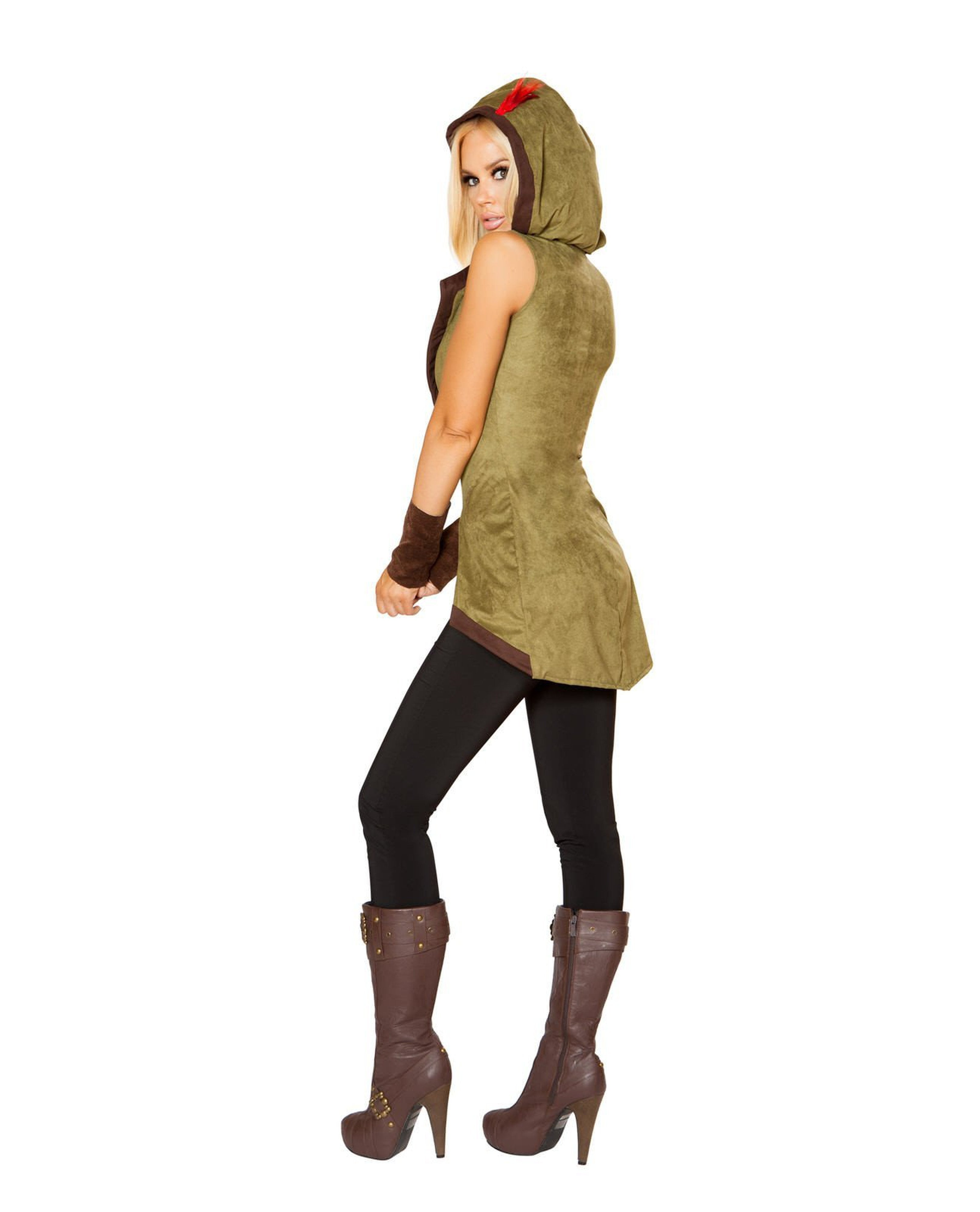 Hooded Outlaw costumes Size MediumColor Green/BrownNakees