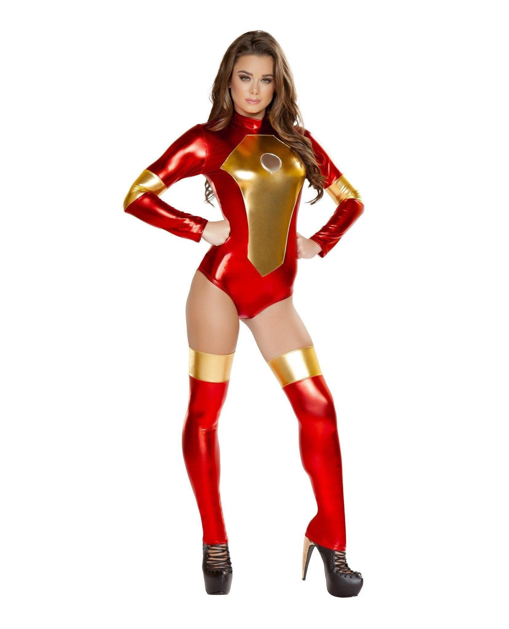 Iron Woman Costume Costumes Size LargeColor Red/GoldNakees