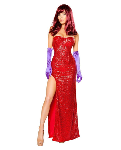 Jessica Rabbit Costume-Costumes-Roma Costume-Large-Red-Nakees