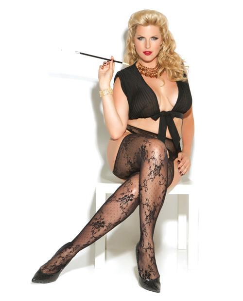 Lace Suspender Pantyhose-lingerie-Elegant Moments-Nakees