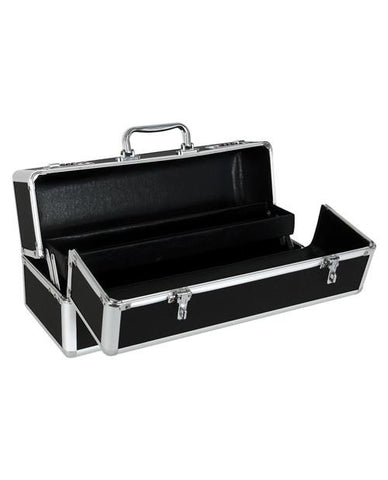 Large Lockable Vibrator Case essentials color black  Nakees