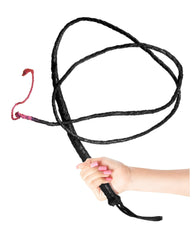 Leather Bull Whip sex toys color blackNakees
