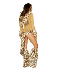 Leopard Princess Romper Costume costumes Size SmallColor HoneyNakees