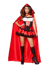 Little Red Rider costumes Size SmallColor Red/Black/WhiteNakees