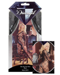 Long Sleeve Bow Design Open Crotch Bodystocking lingerie size one size color black Nakees