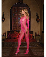 Long Sleeved Open Crotch Bodystocking-lingerie-Dreamgirl-Nakees