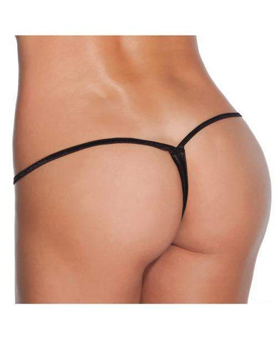 Low Rise Lycra G-String women size one size color black Nakees