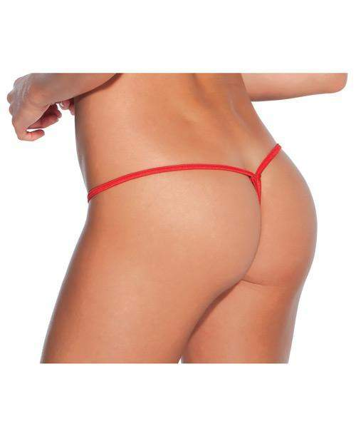 Low Rise Lycra G-String women size one size color red Nakees